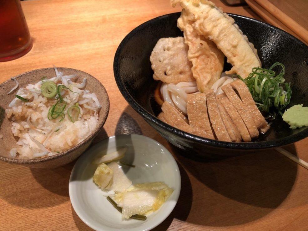 本町製麺所天本店 本日の定食