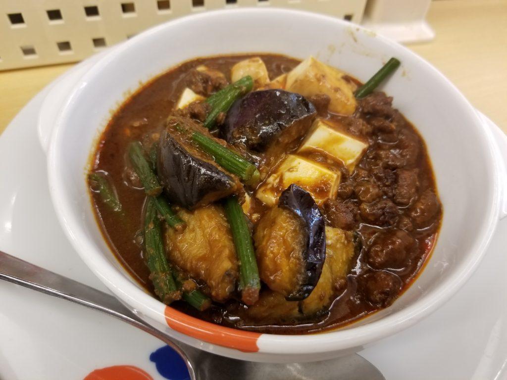 松屋フーズ 玉子で食べる四川風麻婆豆腐定食